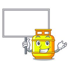 Bring board flammable gas tank on cartoon the vector