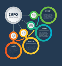 Business presentation or infographics concept vector