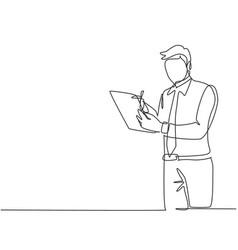 Business proposal concept one continuous line vector