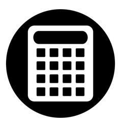 Calculator symbol button vector