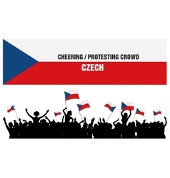 Cheering or Protesting Crowd Czech vector image