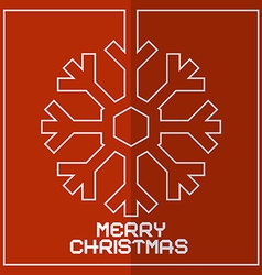 Christmas Red Retro With Snowflake vector image vector image