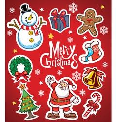 Christmas set collection vector