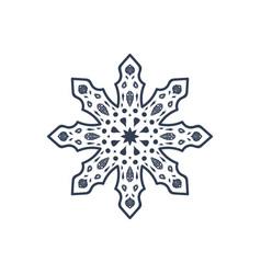 christmas snowflake isolated vector image