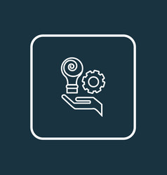 Creative services icon line symbol premium vector