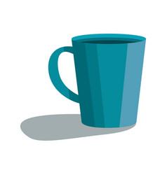 cute blue cup icon cartoon style vector image