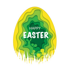 easter paper background vector image