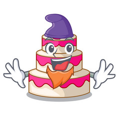 elf wedding cake in the character shape vector image