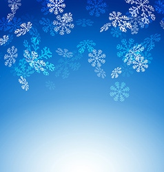 Falling snow flakes new christmas card vector image