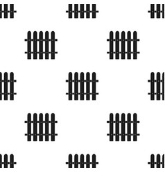 Fence icon in black style isolated on white vector