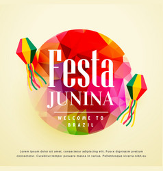 Festa junina latin american holiday background vector