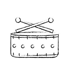 figure snare drum musical instrument to play music vector image
