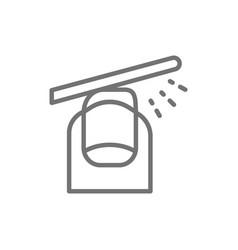 File nails manicure salon line icon vector
