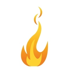fire flame bright danger icon vector image