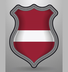 Flag of latvia badge and icon vector
