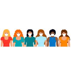 group women different nationalities in vector image