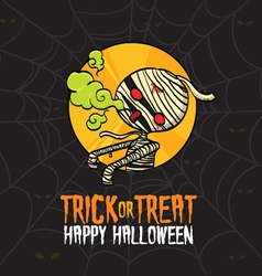 Halloween Trick or Treat Mummy Costume vector