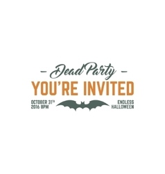 Happy halloween 2016 dead party invitation label vector