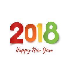happy new year 2018 greeting card template vector image