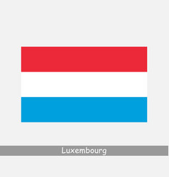 luxembourg national country flag banner icon vector image