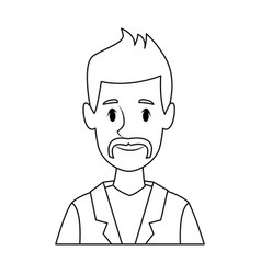 man avatar profile picture people vector image