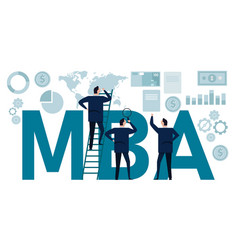 Mba master business administration academic vector