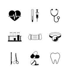 Medical pictograph collection vector