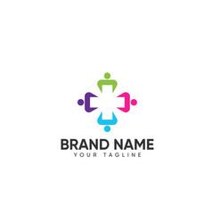 Medical plus logo design for healthy company vector