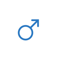 Men gender symbol related glyph icon vector