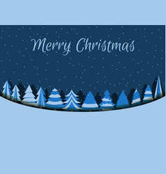 merry christmas background with christmas trees vector image