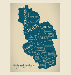 Modern city map - gelsenkirchen city of germany vector