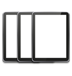 modern computer tablet on white vector image