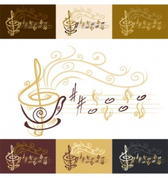 music cafe vector image