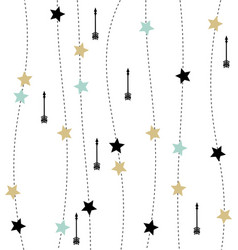 Nordic style with arrows and stars pattern vector