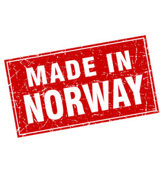 Norway red square grunge made in stamp vector