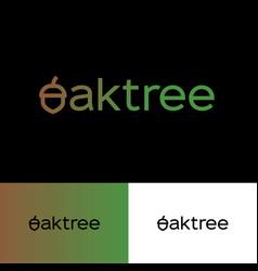 Oak tree logo letter o as fruit acorn vector