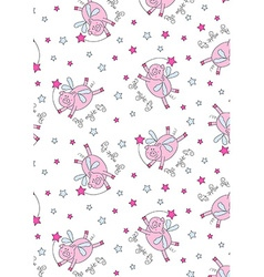 Pigs might fly with stars and a wand vector image vector image