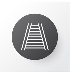 railway icon symbol premium quality isolated vector image
