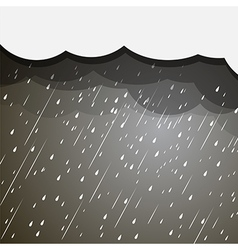 Rain clouds vector