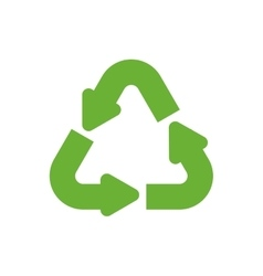 recycle arrow ecology icon graphic vector image