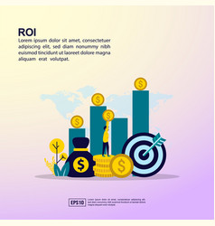 return on investment concept with people vector image