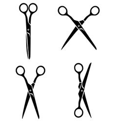 scissors average vector image