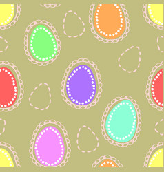 seamless easter pattern with colored and dushed vector image