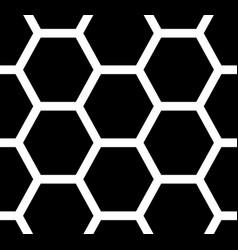 seamless pattern hexagons vector image