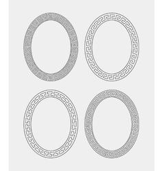 set four oval meander frames vector image