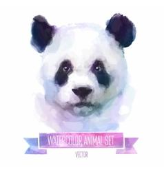 set watercolor cute panda vector image