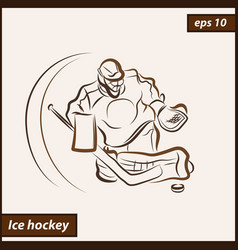 shows a hockey vector image
