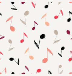 sketch music notes pattern vector image