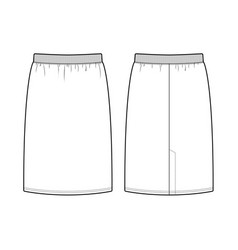 Skirt fashion flat sketch template vector