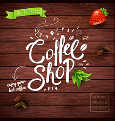 square background with conceptual coffee symbols vector image